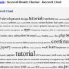 Keyword Density tagcloud